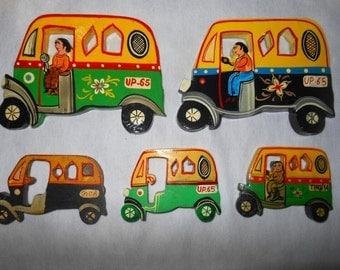 Indian Fridge magnets souvenirs memorabilia gift - Auto Rickshaw
