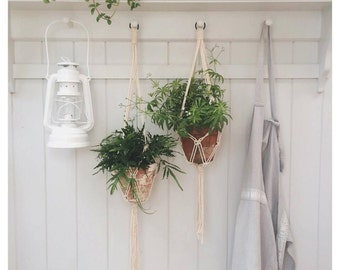 Macrame plant hanger (100% cotton rope) *Bespoke options available*