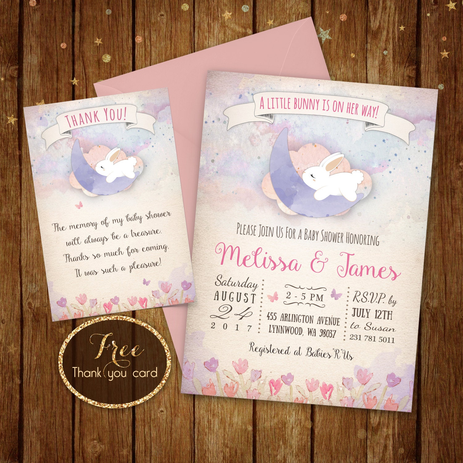 bunny baby shower invitation printable little bunny invite
