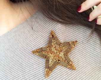 Star brooch Стильная Брошь звезда