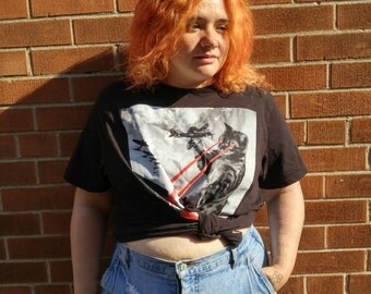 Vintage plus size high-waisted distressed jean short