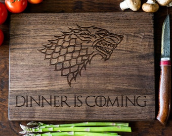 Game Of Thrones Cutting Board Gift Got Cutting Board Dinner Is Coming House