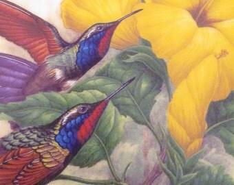 Garnet-throated Hummingbirds Jeweled Hummingbirds Plate Collection Hamilton By J.F. Landenberger 1988 Hummingbird Plates