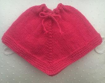 Dolls Poncho - Pink