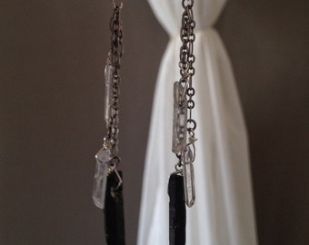 Tiered Quartz Earrings