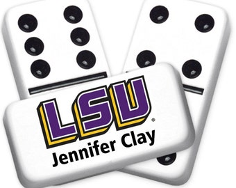 Louisiana State University Custom Personalized Licensed Dominoes Set