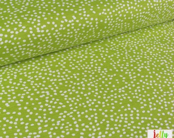 Birch ORGANIC Jersey KNIT Fabric - Firefly Dots in Grass from Mod Basics 3 Collection by Birch Fabrics - UK Seller