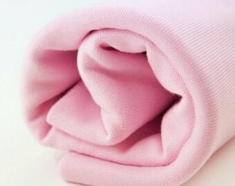 ORGANIC Rib Fabric - Princess Pink Rib Knit - UK Seller