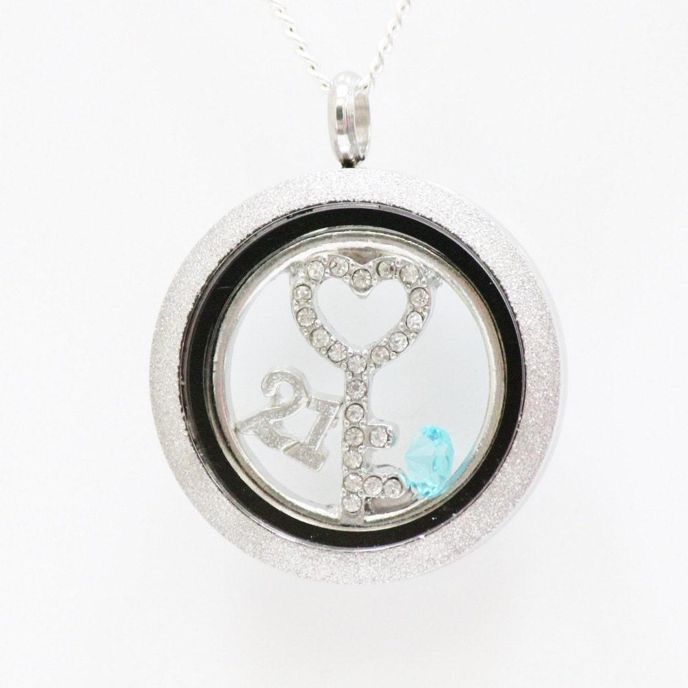 21st Birthday Birthstone Necklace 21st Birthday Gift For