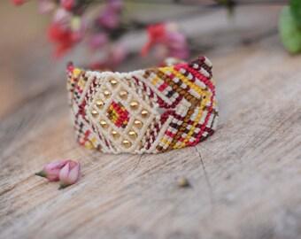 Macrame handmade bracelet, Bohemian style