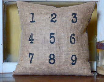 Numbers Pillow