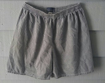 Vintage Black and White Checkered Shorts