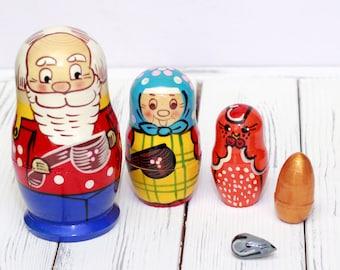 Russian Nesting Dolls Fun and Educational Finger 5 in 1 Kurochka-Ryaba