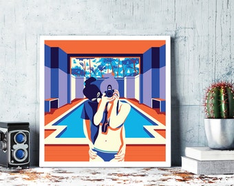 The Educators, Digital art, illustration print.