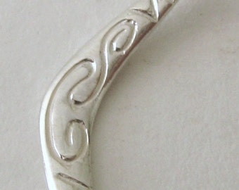 Genuine SOLID 925 STERLING SILVER 3D Australian Boomerang charm/pendant