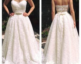 Wedding dress wedding gown lace like a cinderella