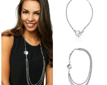 Swarovski Crystal Necklace Platinum Crystal