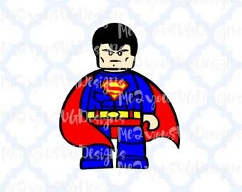 Lego Superman SVG,EPS,PNG,Studio