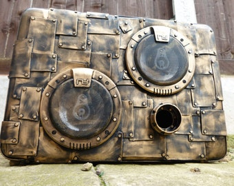 Steampunk Style Portable Boombox / Boomcase - Bluetooth