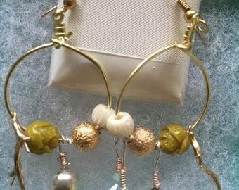 Puka Shell Sunrise Dangle Earrings