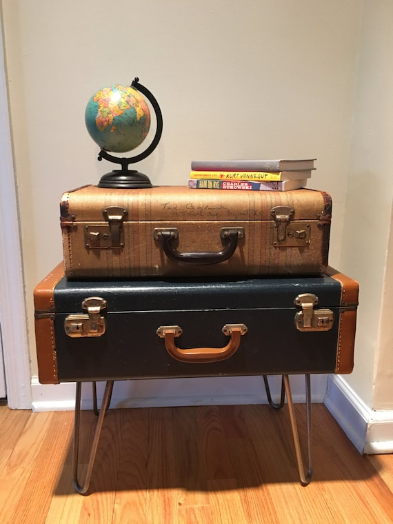 items similar to vintage suitcase end table nightstand