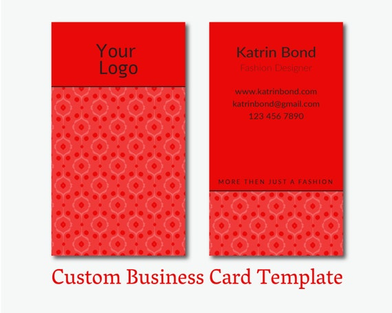 ... Business Card, Business Card Design, Red Business Card Template