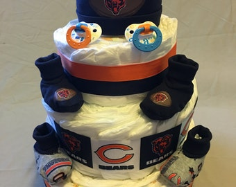 NFL Chicago Bears diaper cake