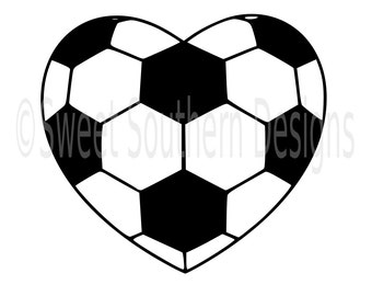Soccer heart SVG instant download design for cricut or silhouette