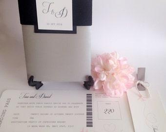 Boarding Pass Wedding Invitation