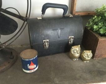 vintage lunch box with original thermos