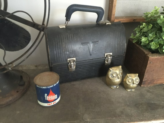 Vintage lunch box with original thermos for Decor 6 piece lunchbox