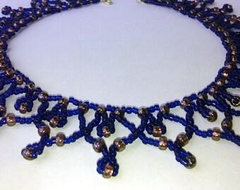 Purple-blue necklace