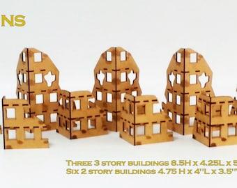 Warhammer 40k Ruins Set x 9 28mm Terrain