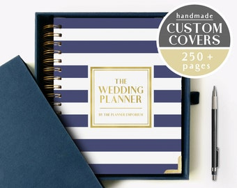 The Wedding Planner - Planner Book and Binder - Wedding Gift Bridal Shower Bachelorette Hen Party Gift - Wedding Guestbook - Planner Guide