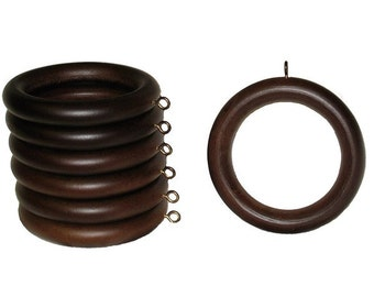 "Select 1 3/8"" Wood rings to use with rod, window treatments, valance, toppers, home and window decor"