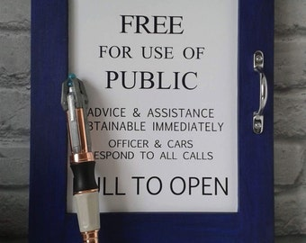 Doctor Who Tardis police box sign replica