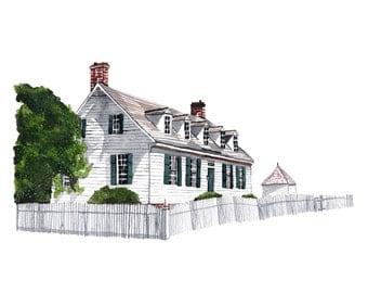 Home Portrait in Watercolor. Custom Portrait. Home Portrait. House Portrait. Home. Painting. Custom Home Portrait.