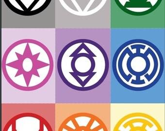 All Lantern Corps Symbols