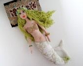 Pattern Mermaid Soft Textile Doll Soft Fabric Toy. Ophelia.
