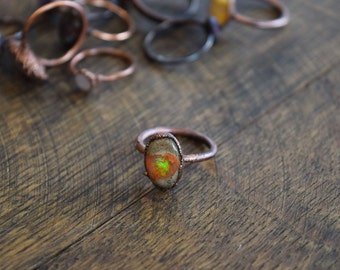 Galaxy Opal Electroformed Ring