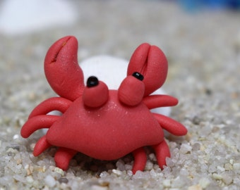 Miniature Terrarium Accessory,Tiny Red Crab, Fairy Gardens, Miniature Gardens, Terrarium Animals