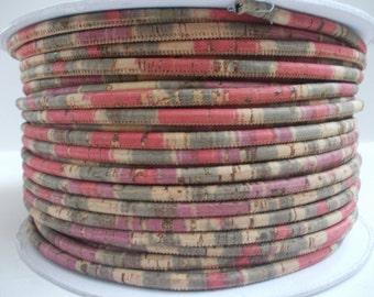 Natural Portuguese Multicolor Cork,Cork Cord 3mm(1 Meter)
