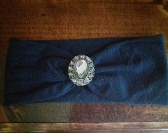 Rhinestone turban headband