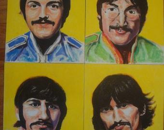 The Beatles Sgt. Pepper paintings