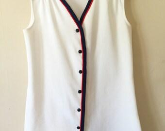 Mod 1960s White Ultra Mini Dress