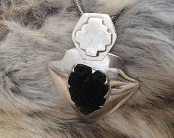 moldavite silver(92.5) pendant