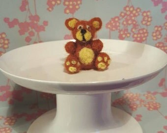 Miniature Needle Felted Teddy Bear.