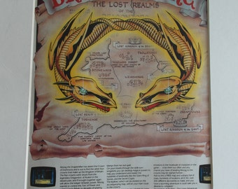 Original Retro Gaming Advert for Dragontorc 1985 for the Amstrad or ZX Specturm