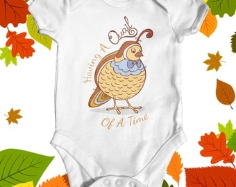 Quail Of A Time Baby Bodysuit | Cute Baby Bodysuit | Boho Baby Clothes | Baby Shower Gift | Funny Baby Clothes | Animal Baby Bodysuit