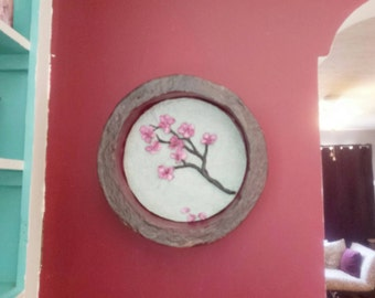Cherry Blossom Wall Art, Tree Branch Flowers